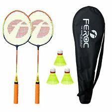 Badminton Racket Set of 2 with 3 Pieces Nylon shuttles with Full Cover