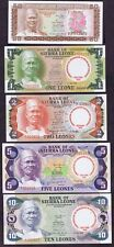 SIERRA LEONE 1980 COMMEMORATIVE ISSUE (LTD to 1800 SETS) P # 9-13 AFRICAN UNITY
