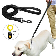 No Pull Bungee Leash for Medium Large Dogs Reflective Nylon Rope & Free Clicker