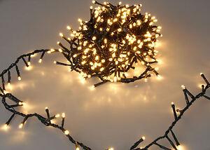 Weihnachtsbaum Lichterkette - 560 - 1800 LED - EXTRA warmweiß bunt - Innen Außen