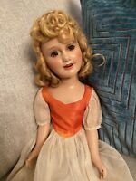 """Antique 21"""" 1940 Ideal Composition Miss Liberty Doll Judy Garland Deanna Durbin"""