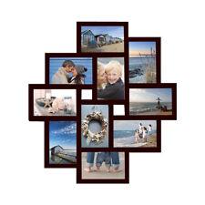 Bilderrahmen Fotogalerie 10 Bilder Kunststoff Bildergelarie Rahmen braun Br9779