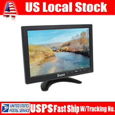 Portable 10 inch IPS Screen Monitor HDMI Input VGA BNC w/ Landscape For CCTV PC