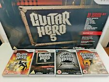 Guitar Hero 5 Nintendo Wii boxed and 4 games