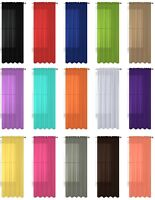 """1 Pack Fully Stitched Sheer Window Curtain Panel Drape 63"""" 84"""" 95"""" 108"""" 120"""" L"""