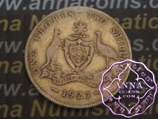 Australia 1927 George V Florin X1, Average Circulated Condition
