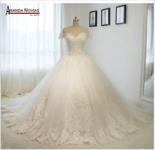 e7d1335bab48 White Ivory Mermaid Wedding Dress Bridal Gown Custom Size 6 8 10 12 14 16 18