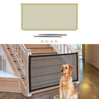 Magic Dog Gate Mesh Puppy Fence Door For Indoor and Outdoor Safety Pet Dog Gate