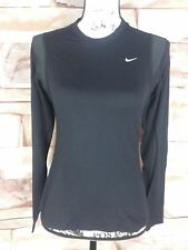 Nike Women's Fit Dry Pullover Black Athletic Tops Size M (8-10)