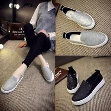 Women Sequins Glitter Flats Loafers Moccasins Breathable Sneakers Shoes Casual