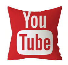 Red Youtube Pillow Case Youtube Throw Pillow Funny Cartoon Pillow Cover 45x45cm