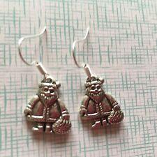 TIBETAN SILVER BABBO NATALE orecchini pendenti presenti in Borsa Regalo