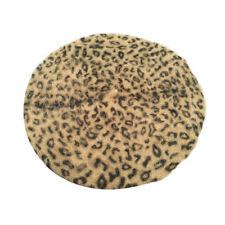 5 Colors Women Faux Rabbit Fur Leopard Printed Berets Cap Fashion Beanies Hat