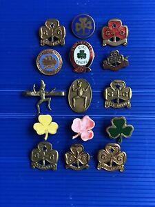 vintage girl guide badges cloth
