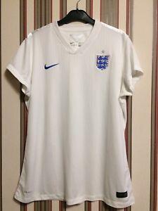 NIKE ENGLAND 2014/15 Women's team Stadium Shirt Soccer Sz XL