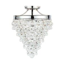 Home Decorators Collection 3-Light Chrome Crystal Semi-Flush Mount