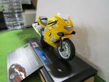 TRIUMPH TT600 jaune au 1/18 MAISTO 39300 moto miniature