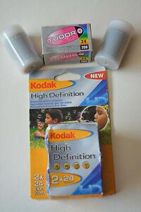 5 x Kodak & Tudor 35mm 24 exp film is unused the expiry date is 2005 & 2011