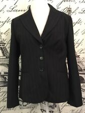 Ann Taylor Charcoal Pinstripe Boss Woman Career Blazer Sz 14 Nwt Fall Winter