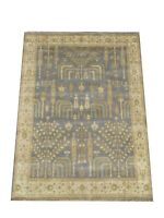 "8X10 Willow Tree Oushak Hand-Knotted Wool Rug Gray Oriental Carpet (8'2"" x 9'9"")"