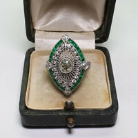 Vintage 925 Silver White Sapphire Emerald Engagement Wedding Ring Wholesale 6-10