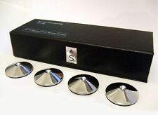 Set of 4 AudioSerenity Polished Chrome HiFi Spike Shoes