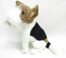 E & J Classic Wirehaired Fox Terrier Stuffed Plush Realistic