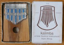 Vintage 1966 Hugh Tracey Kalimba 17 Note Treble Wood with Original Box/Manuals