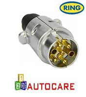 Ring Towbar Towing Caravan 7 Pin Metal 12S Trailer Plug A0023