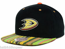 ANAHEIM DUCKS MITCHELL & NESS NU14Z NHL NATIVE STRIPE SNAPBACK HOCKEY CAP HAT