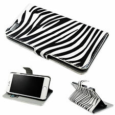 Zebra Line Leather Slots Pouch Wallet Cover Case For Apple iPhone 6 Plus 5.5""