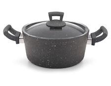 Non Stick Granite Pot Pan Cookware Casserole Cooking Pot with Lid PFOA Free