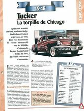 Tucker  1948  USA Car Auto FICHE FRANCE