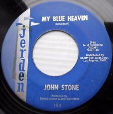 JOHN STONE uptempo rocker JERDEN 45 MY BLUE HEAVEN OH WHAT IT SEEMED TO BE JR443