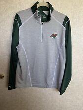 Antigua Men's Minnesota Wild pullover Size M 3/4 zip