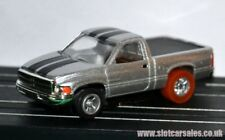 Autoworld X Traction Dodge Ram Pickup Silver with Black stripe HO scale Slot Car