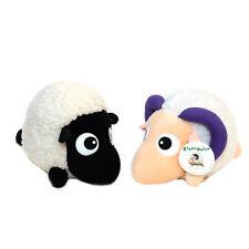 2 Stray Sheep Plush Toy Couple Set Black White Purple