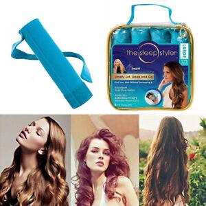 "Sleep Styler Heat-free Nighttime Hair Curlers 8 Rollers 6"" for Long Hair"