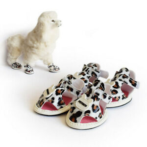 Fashion Dog Sandals Boots Waterproof Dog Shoes Adjustable Summer for Cat Puppy