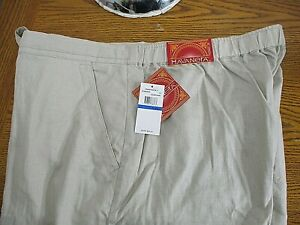 Mens Havanera NWT Linen Blend Tan/Beige Drawstring Pants Tag XL x 33