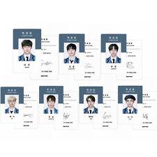 7pcs/set Kpop ENHYPEN 2021 SEASON'S GREETINGS Photo Card Student Identity Card