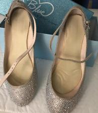 Betsey Johnson Womens Sb-Joy Champ Sparkly Ballet Flats Size 9.5B Ankle Straps