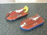 2x VINTAGE DINKY TOYS No.290 SRN6 HOVERCRAFT RED GOOD CONDITION & SPARES/REPAIR