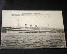 CGT SS FRANCE IV Hospital Ship Post Card 4