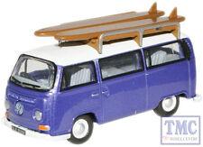 76VW015 Oxford Diecast 1:76 Scale OO Gauge VW Bus Metallic PurplWhite