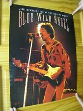Jimi Hendrix Poster Blue Wild Angel Live At The Isle Of Wight Singing Onstage