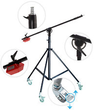 Studio Boom Arm Stand Kit Heavy Duty 4.5kg Counterweight & Wheels Photo Video