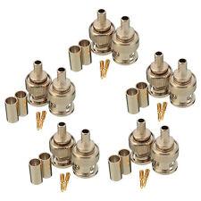 20 Sets 3-Piece BNC Male RG58 Plug Crimp Connectors L6