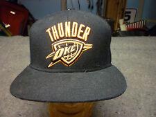 on sale 274bf ea35d Adidas Oklahoma City Thunder OKC Black NBA Ball Cap w Orange Logo Brady EUC