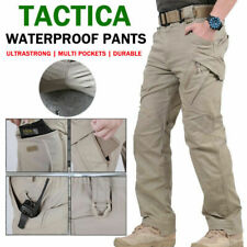 Mens Tactical Waterproof Pants Cargo Casual Trousers Combat Hiking Outdoor New